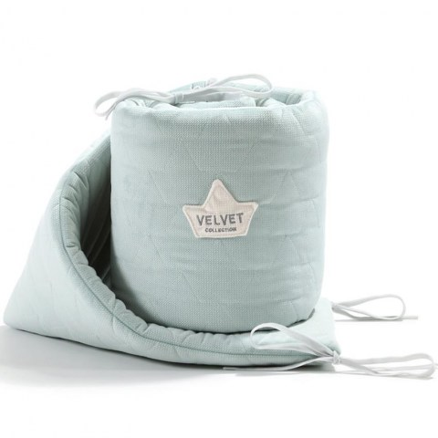 BedBumperVelvetSmokeMint (Copy)